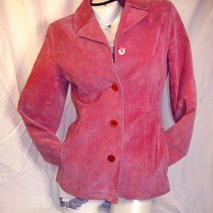 Wet Seal Pink Suede Blazer Jacket